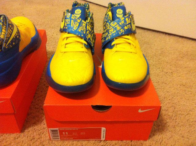 Nike Zoom KD IV 4 Scoring Title Tour Yellow Lemon Twist Photo Blue  473679-703 16257ab7f