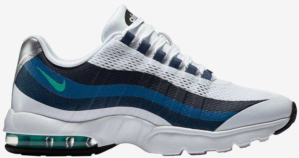 Nike Air Max '95 Ultra Women's White/Crystal Mint-Brigadiere Blue-New Slate
