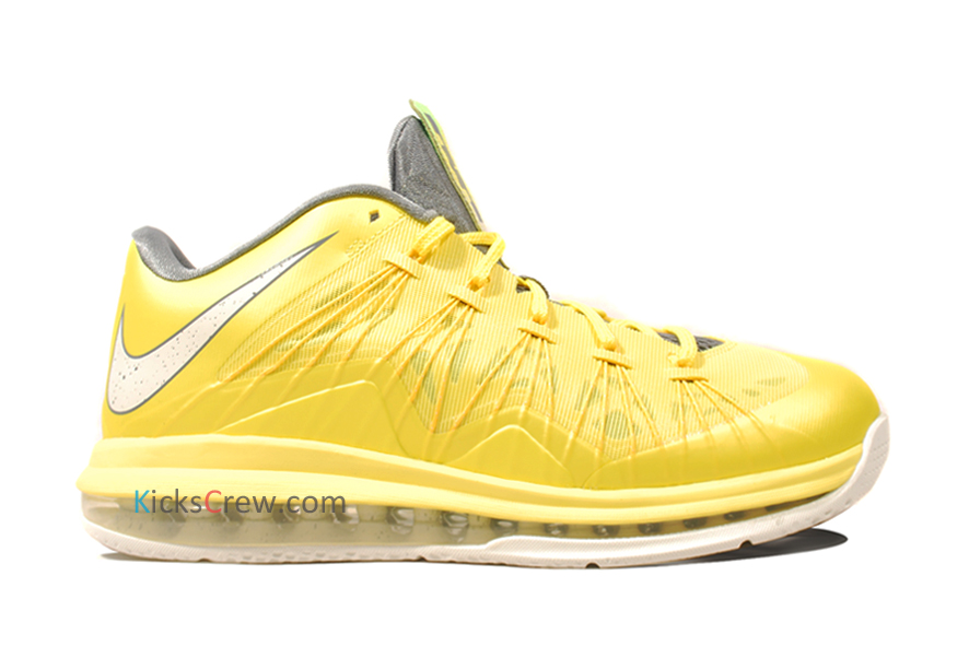Stay tuned to Sole Collector for further details on the Sonic Yellow/Cool Grey Nike LeBron X Low.