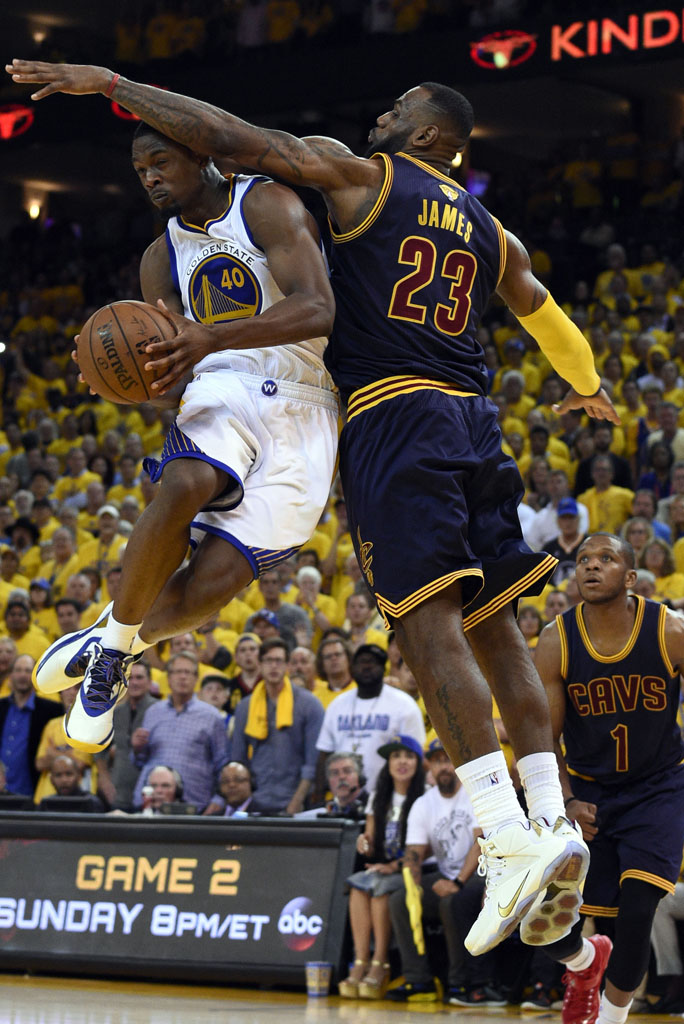 d19ef1861a2 ... NBA Finals between the Cleveland Cavaliers and the LeBron James wearing  WhiteGold-Wine Nike LeBron XII 12 PE in Game 1 .