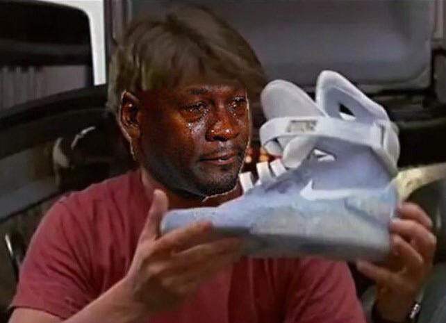 Best Michael Jordan Crying Sneaker Memes: Nike Mag