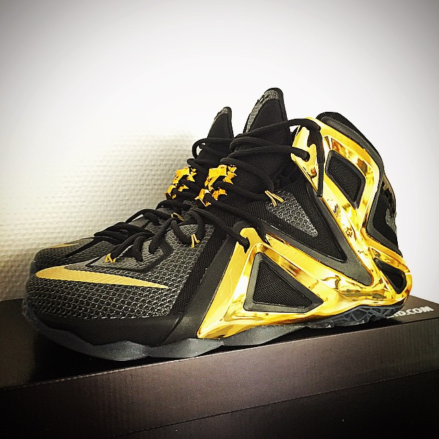 Nike LeBron 12 Elite Red Black Gold