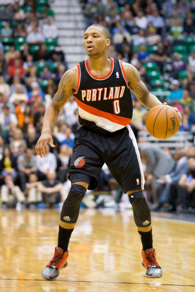 Damian Lillard wearing adidas Rose 3.5 by CJ Bumgat