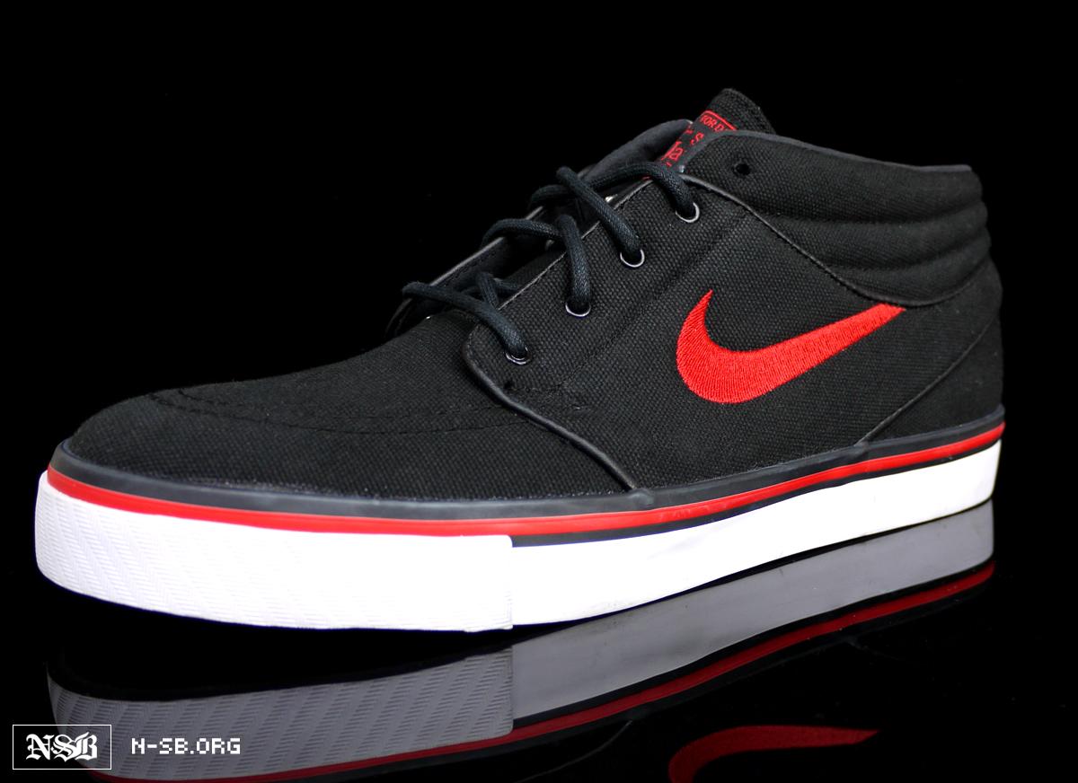 sprzedaż uk ponadczasowy design najwyższa jakość Nike SB Stefan Janoski Mid - Black/Sport Red - Summer 2012 ...