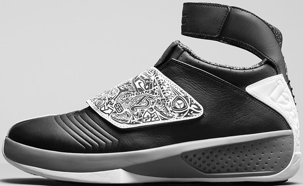 Air Jordan 20 Retro Black/White-Cool Grey