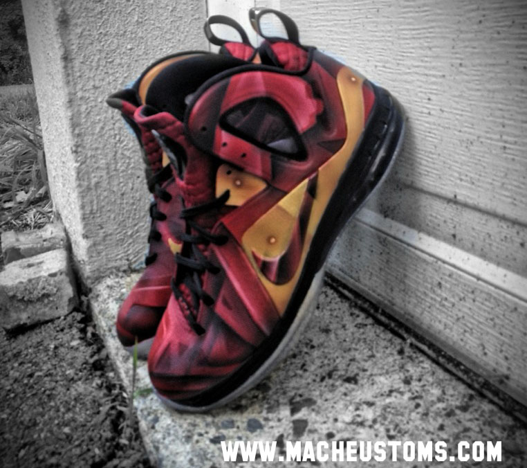 big sale dee58 637a8 Nike LeBron 9 P.S. Elite Tony Stark by Mache Custom Kicks (5)
