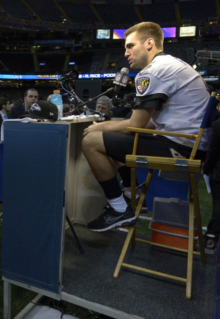 Joe Flacco wearing Nike Air Pegasus+ 28