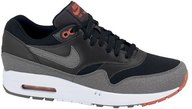Nike Air Max 1 Essential Black/Cool Grey-Anthracite-Team Orange
