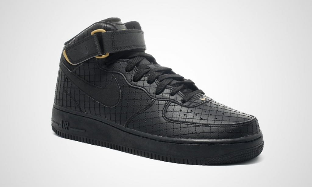 nike air force 1 mid 07 black and gold