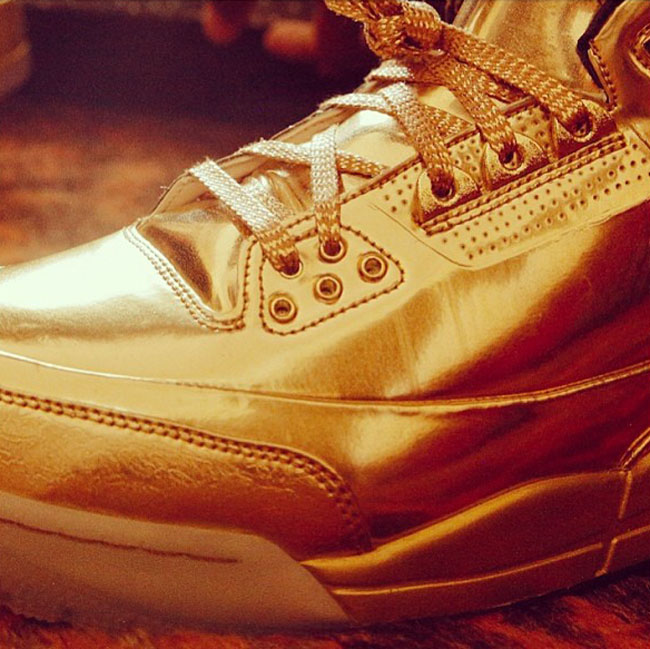 Usher's 1-of-1 Golden Air Jordan 3