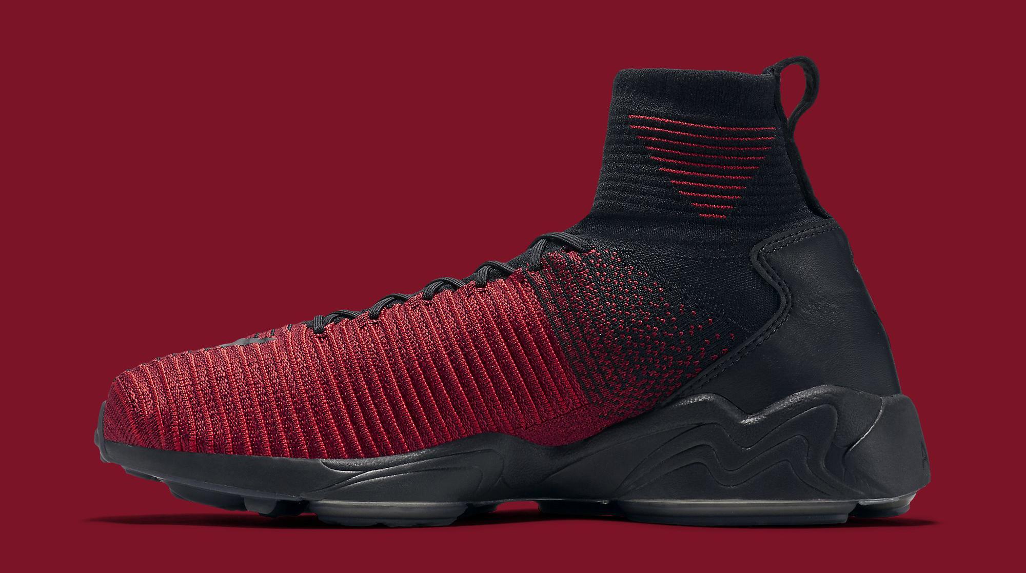 Nike Zoom Mercurial Flyknit Red Black Medial