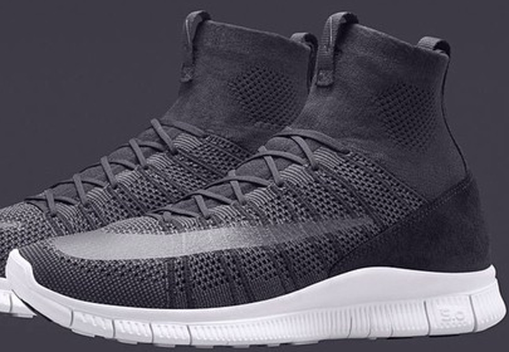 Nike Free Mercurial Superfly Dark Grey/White