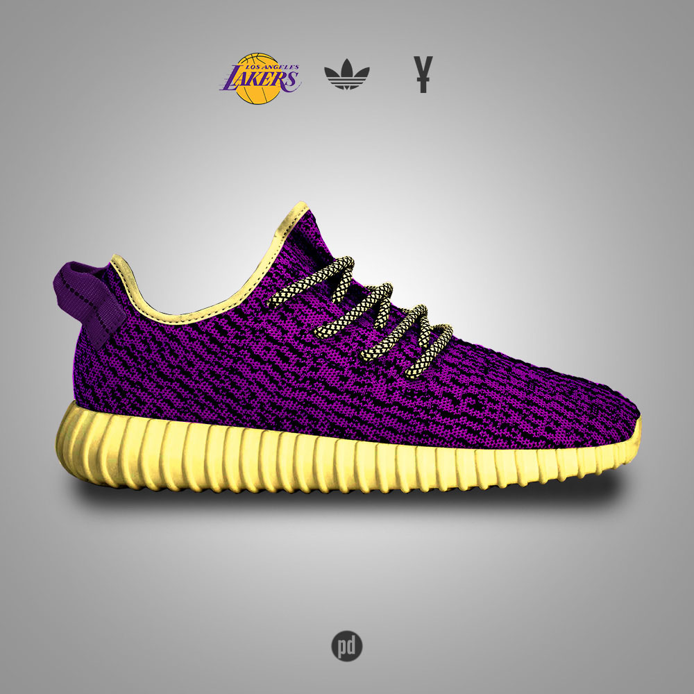 adidas Yeezy 350 Boost for the Los Angeles Lakers