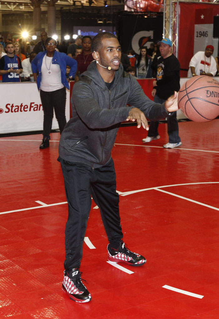 Chris Paul wearing Jordan CP3.VII iD Argyle