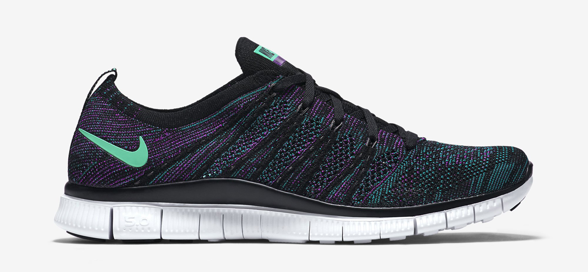 cheap for discount 15a7f a02a5 nike free flyknit 5.0 rainbow silver