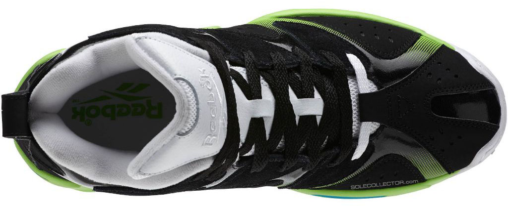 Reebok Kamikaze 1 Black/White-Green Blue M43287 (5)