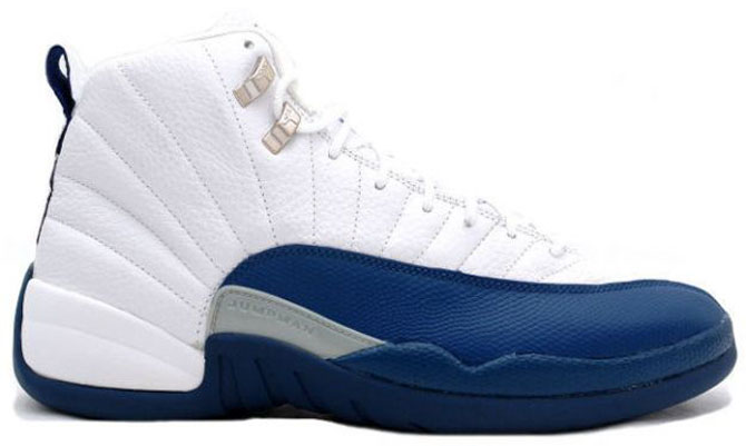 Shoe: Air Jordan 12 Retro – White / French Blue / Metallic Silver / Varsity  Red Retail Price: $135. Release Date: 01/10/2004