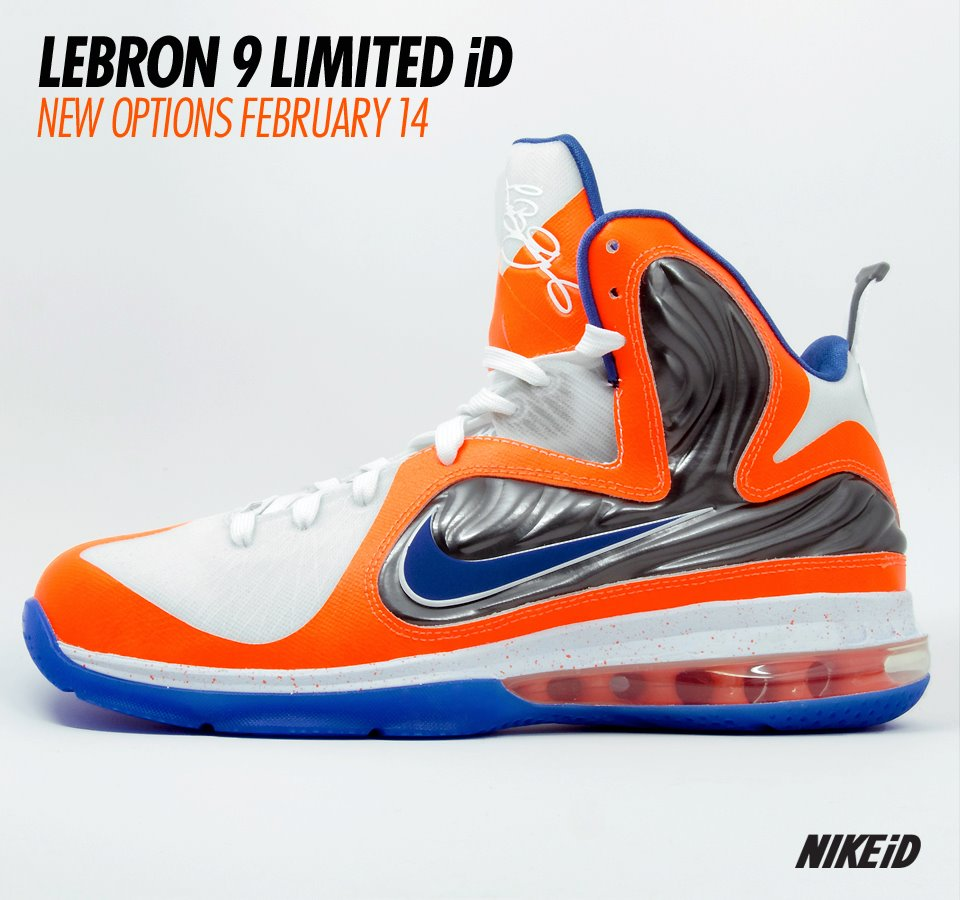 Gearing up for tomorrow\u0027s debut, NIKEiD provides us with a preview of the  LeBron 9 with limited Foamposite options.