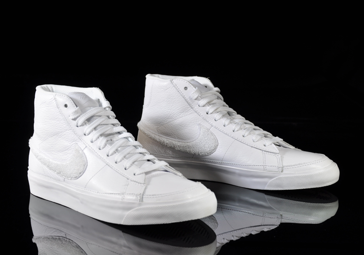 nike blazer mid white leather