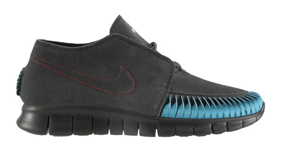 Nike N7 Free Forward Moc 2 in Anthracite University Red and Turquoise