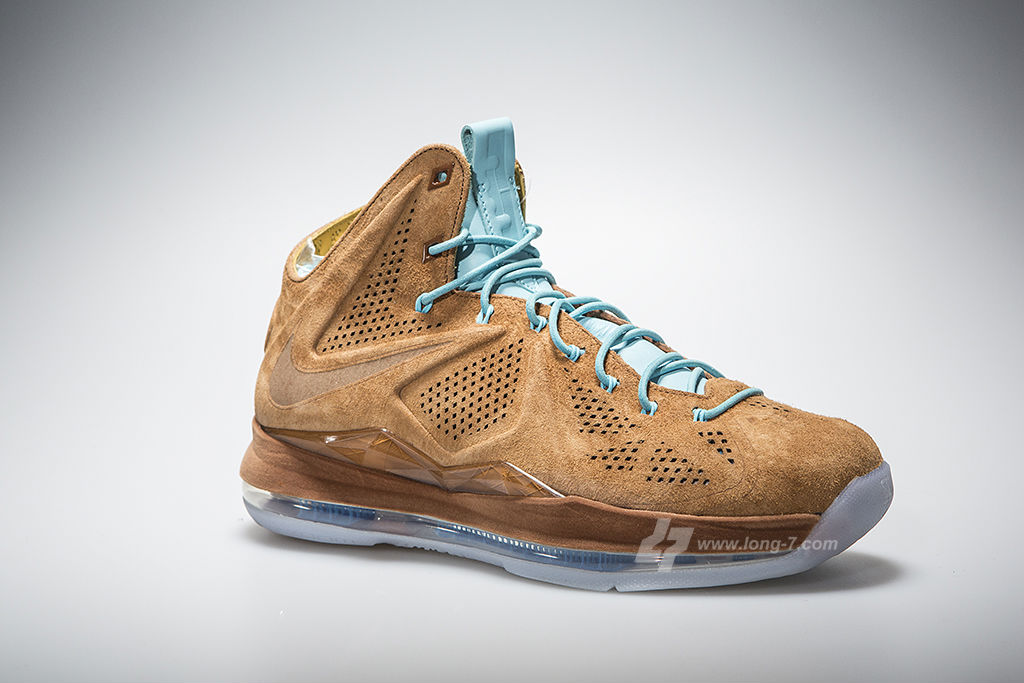 Nike LeBron X EXT Brown Suede 607078-200 (2)