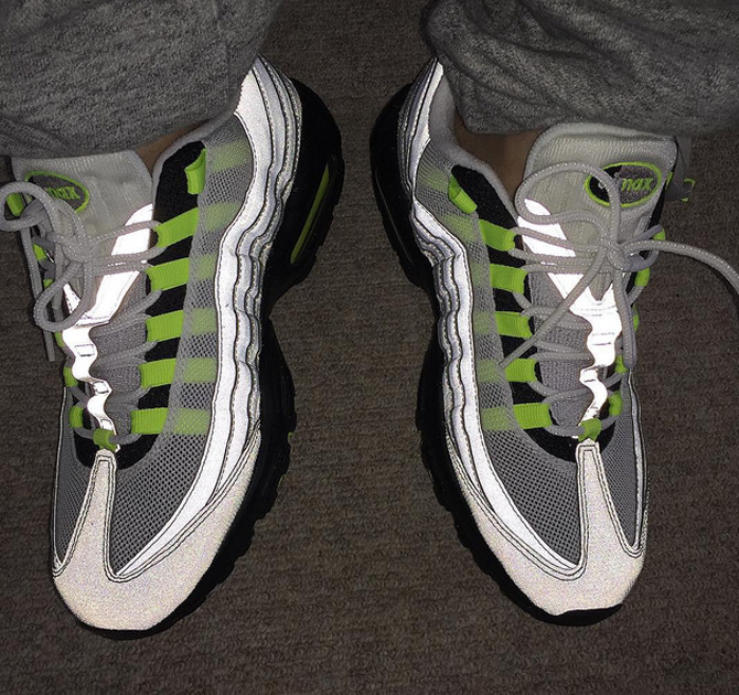 reputable site c8286 8d359 nike air max 95 reflective