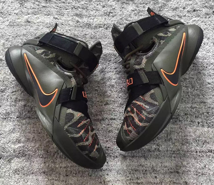 reputable site 95f9a fb1a3 LeBron Soldier 9 Camo Dunkman