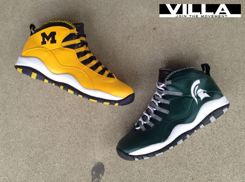 huge discount 47980 2672c Air Jordan 10 X 'A State Divided' for VILLA by Mache Custom ...
