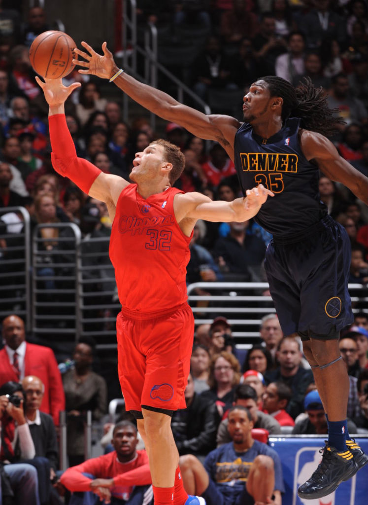 Kenneth Faried wearing adidas Crazy Fast Navy Gold