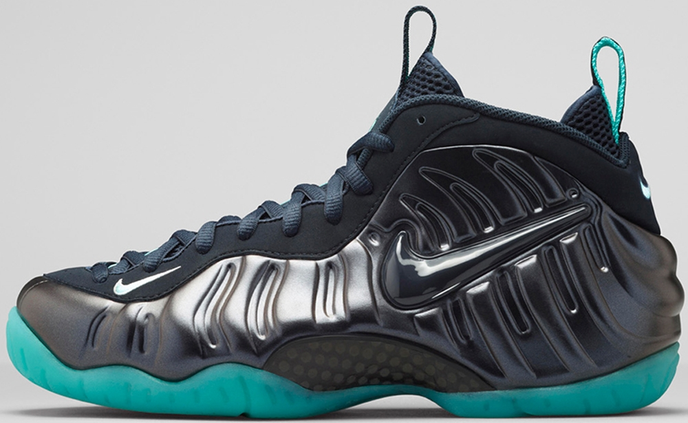 Nike Air Foamposite Pro Dark Obsidian/Dark Obsidian-Blue Aquamarine