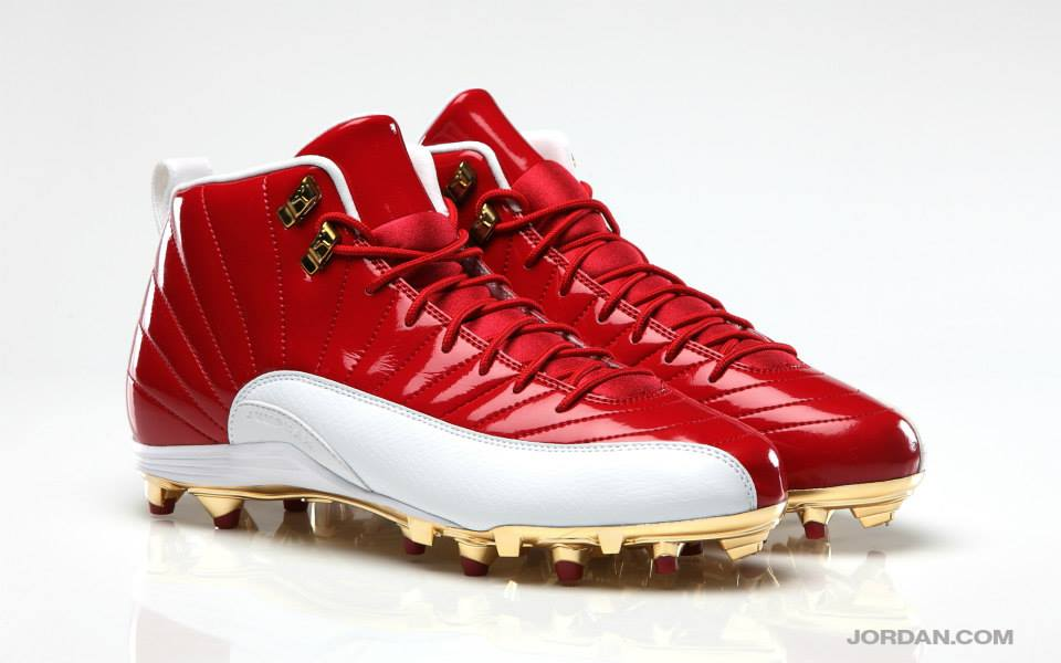 Michael Crabtree's Air Jordan 12 XII PE Red