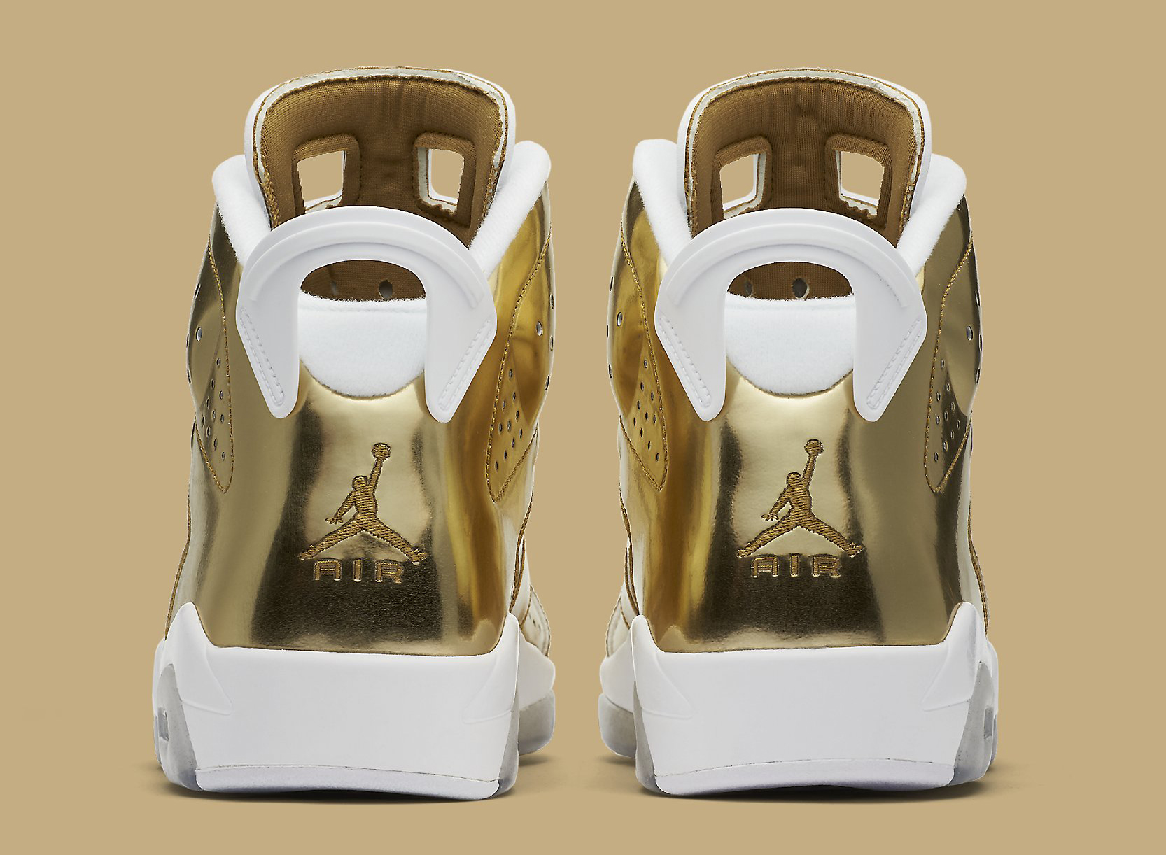 Gold Pinnacle Air Jordan 6 854271-730 Heel