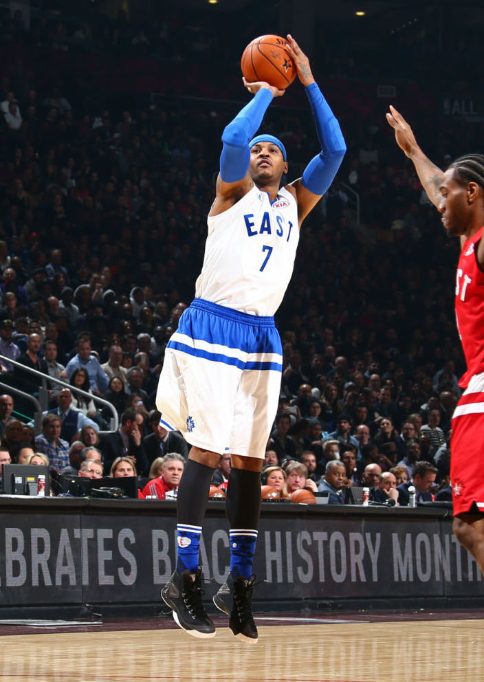 Carmelo Anthony Wearing the Jordan Melo M12 (1)