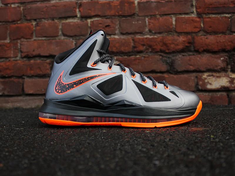 premium selection 427ca 58068 Nike LeBron X - Charcoal   Total Orange   Black - New Images