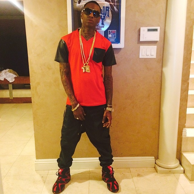 Soulja Boy wearing Reebok Kamikaze I 1 Red/Black