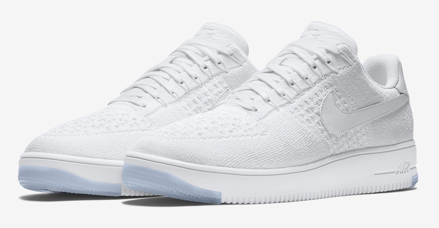 Nike Air Force Flyknit Low White