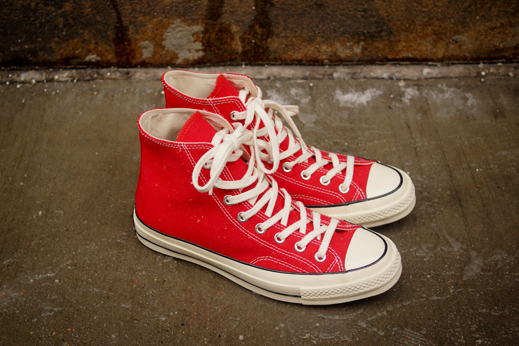 Converse First String Chuck Taylor 1970 Hi Risk Red