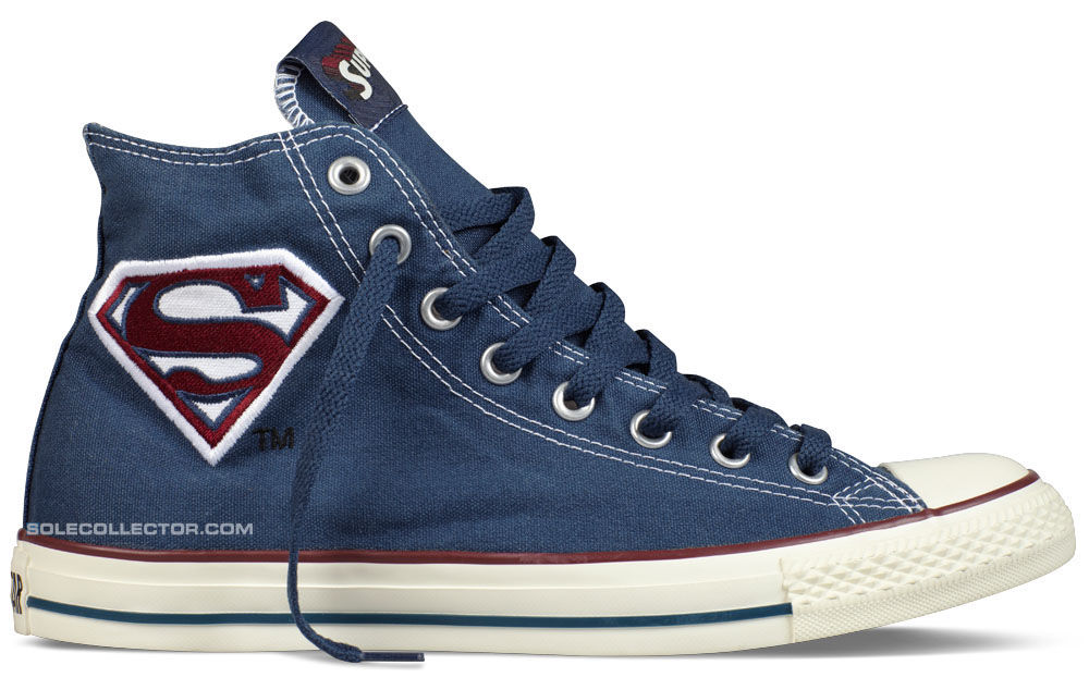 862654b3f1ef ... Hi Superman Sneaker DC Comics x Converse Chuck Taylor All Star Superman  Logo discount Converse Shoes Blue Authentic ...
