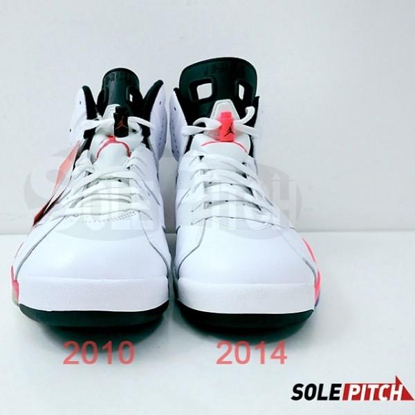 Air Jordan 6 Retro 'WhiteInfrared' 2010 vs. 2014 Comparison