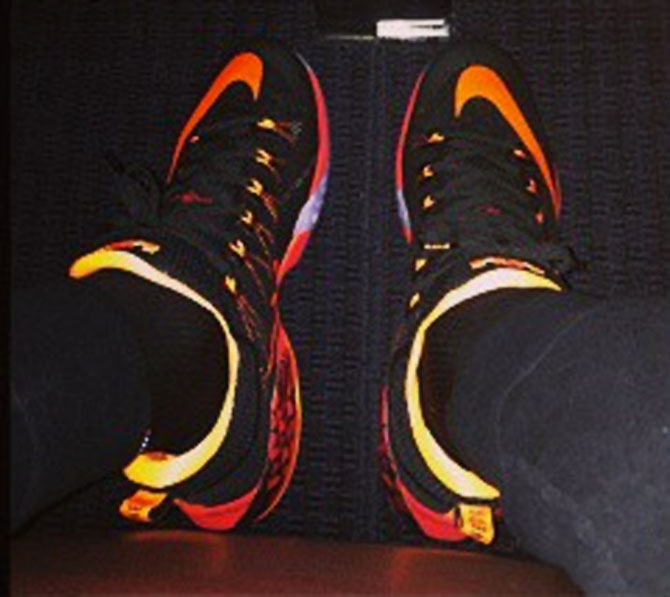 Nike LeBron XII 12 Low Black/Red-Yellow Scale (4)