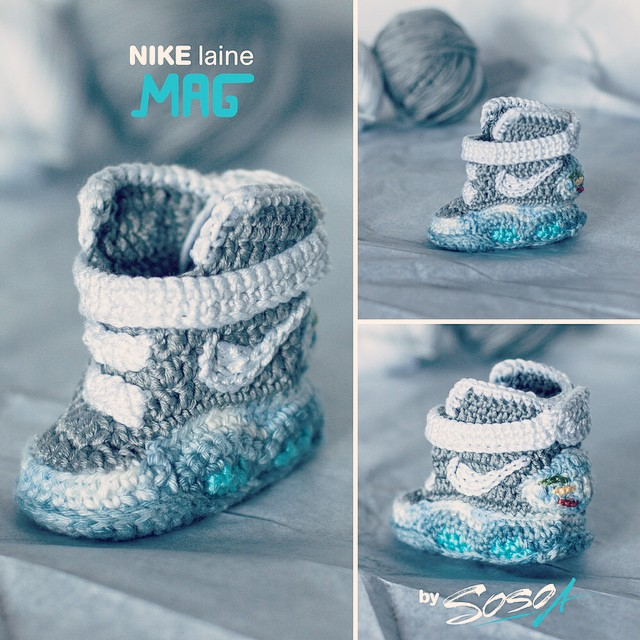 Crochet Baby Booties Nike Pattern : Nike Mags for the Future (Literally) Sole Collector