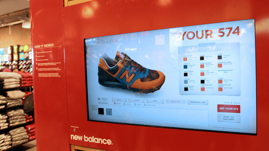 New Balance Kiosk for 574 Customization at Foot Locker in Times Square (12)