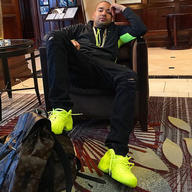 677278a97a DJ Envy wearing Nike Air Foamposite Pro Volt