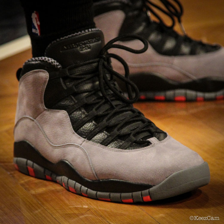 Andray Blatche wearing Air Jordan X 10 Retro Cool Grey