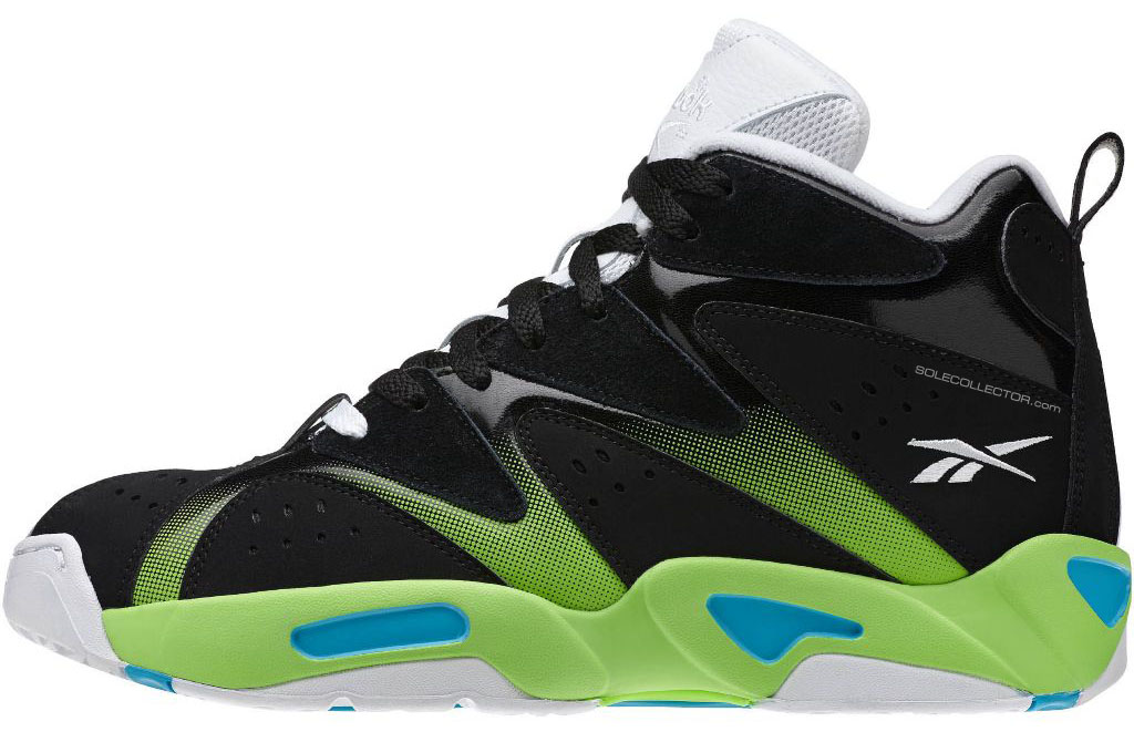 Reebok Kamikaze 1 Black/White-Green Blue M43287 (2)
