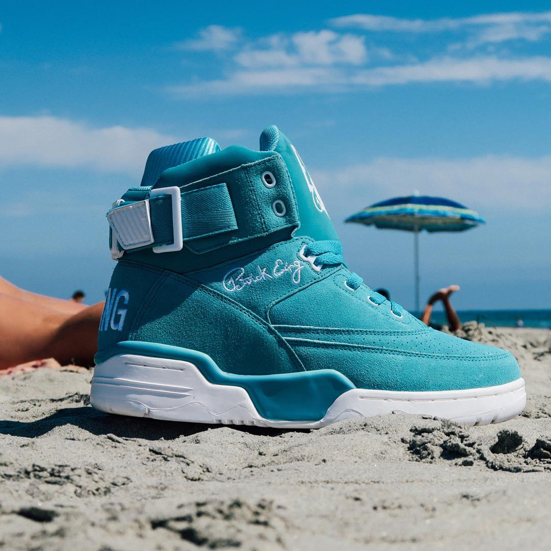 Ewing 33 Hi Turquoise Suede Release Date Sand