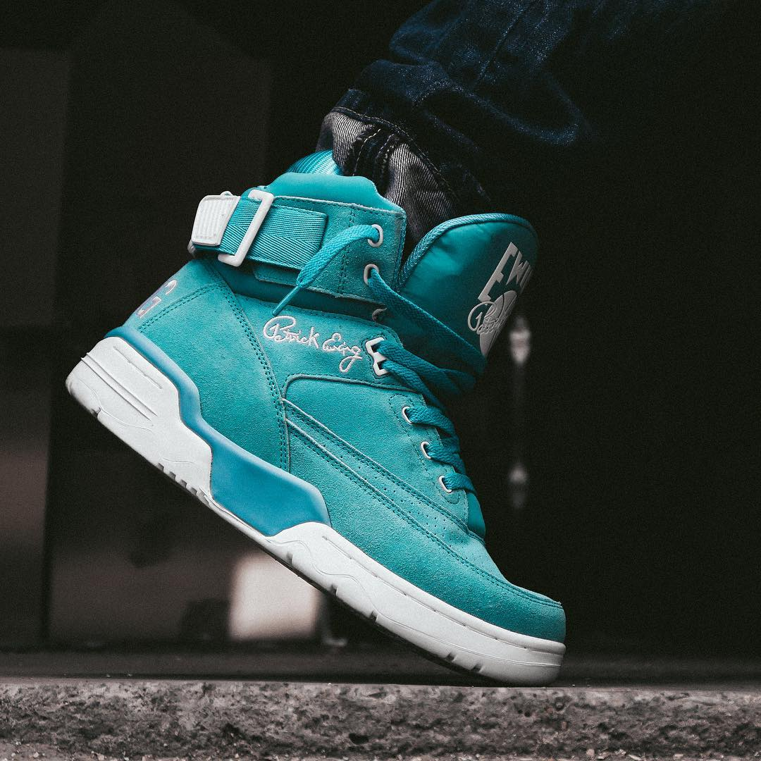 Ewing 33 Hi Turquoise Suede Release Date Toe