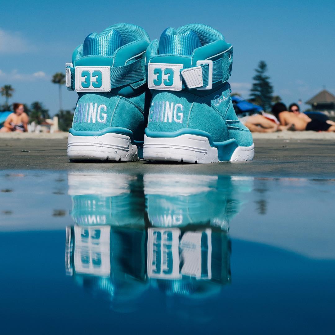 Ewing 33 Hi Turquoise Suede Release Date Heel