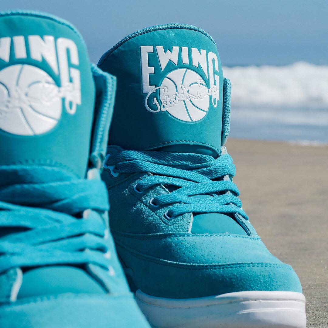 Ewing 33 Hi Turquoise Suede Release Date Tongue