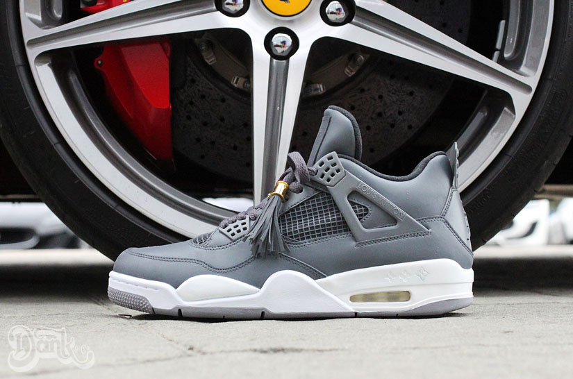 Air Jordan IV 4 Louis Vuitton Don Anthracite by Dank Customs (1)